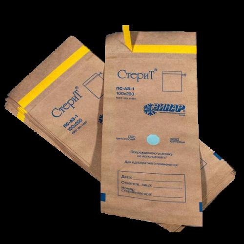 Крафт пакеты для стерилизации 100*200мм